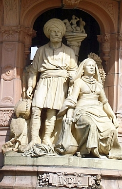Doulton Fountain - Figures Representing India